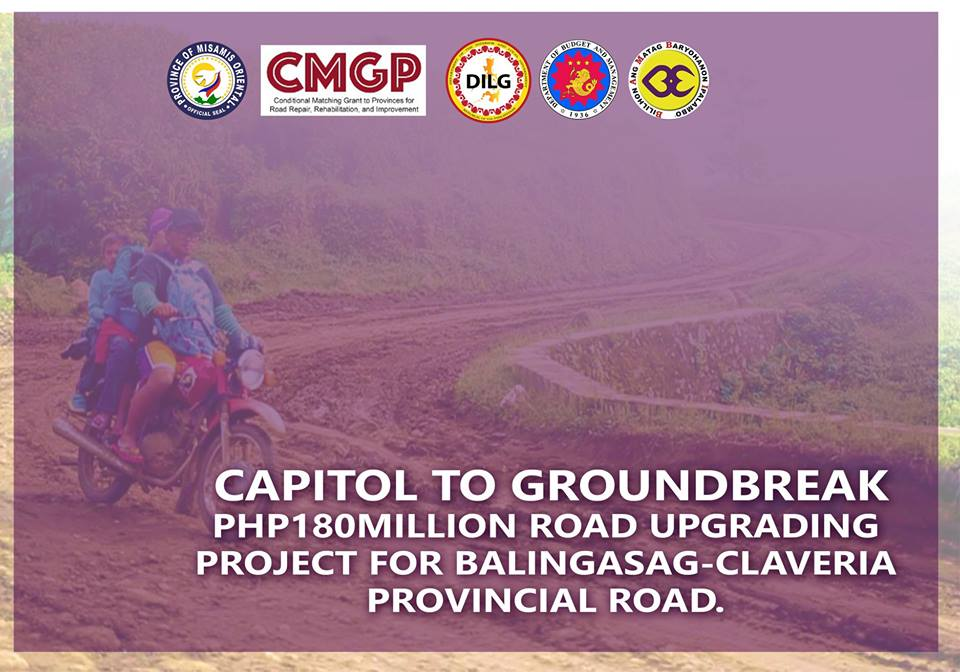 GOV BAMBI TO LEAD GROUNDBREAKING OF P180M ROAD PROJECT IN BALINGASAG