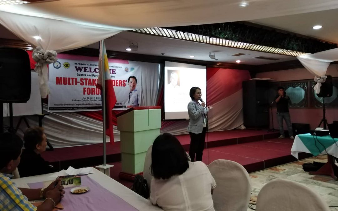 Prov. Cooperative Office Multi-Stakeholders' Forum