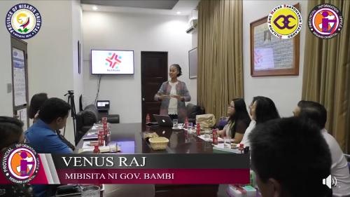 Venus Raj, mibisita kang Gob. Bambi