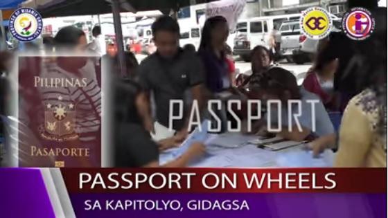 PASSPORT ON WHEELS SA KAPITOLYO, GIDAGSA