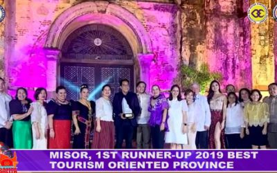 MISOR, 1ST RUNNER-UP 2019 BEST TOURISM ORIENTED PROVINCE