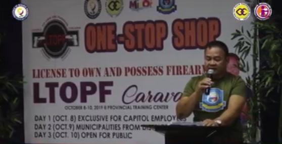 ONE-STOP-SHOP GUN LICENSING CARAVAN, NAGMALAMPUSON