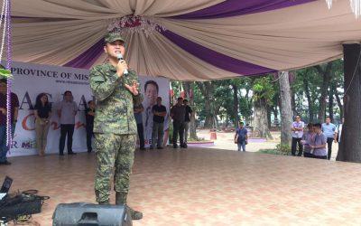KANHI AFP 58IB COMMANDING OFFICER DERILO, GIPASIDUNGGAN NI GOB. EMANO