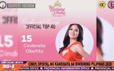 CINDY OBEÑITA, OPISYAL NANG KANDIDATA SA BINIBINING PILIPINAS 2020