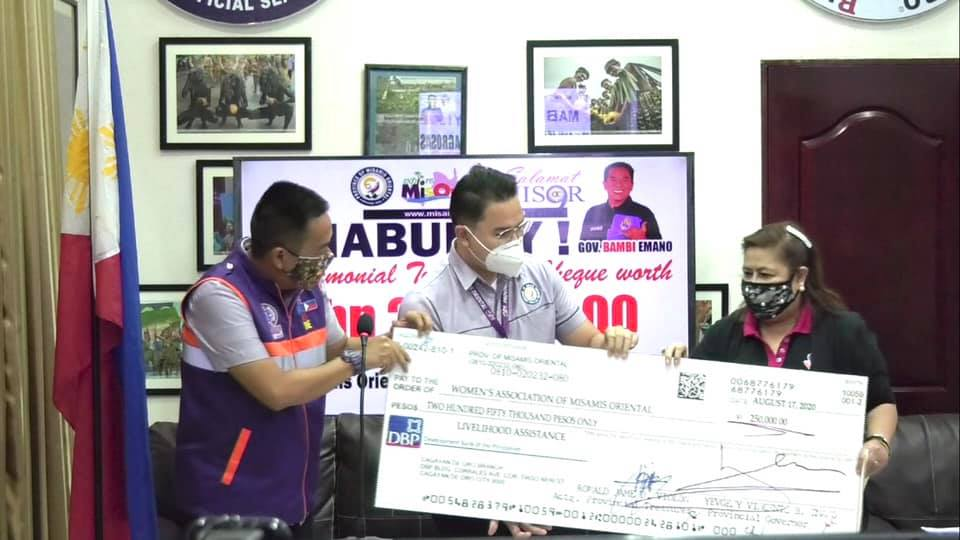 P250,000 GITUNOL SA KAPITOLYO PROBINSYAL SA ASOSASYON SA KABABAYEN-AN