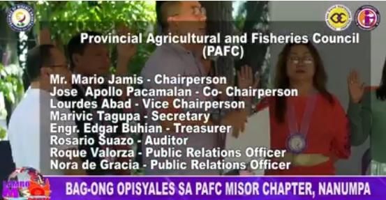 BAG-ONG OPISYALES SA PAFC MISOR CHAPTER, NANUMPA