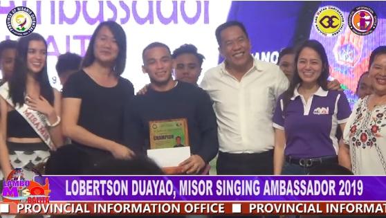 LOBERTSON DUAYAO, MISOR SINGING AMBASSADOR 2019