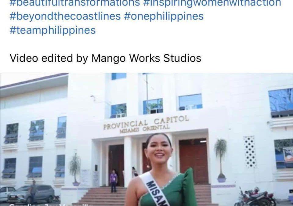 MISOR GIBIDA NI CAROLINE VERONILLA SA MISS UNIVERSE PHILIPPINES