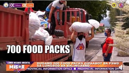 DUGANG 500 FOOD PACKS GIPAABOT SA PSWD SA LUNGSOD SA BALINGASAG